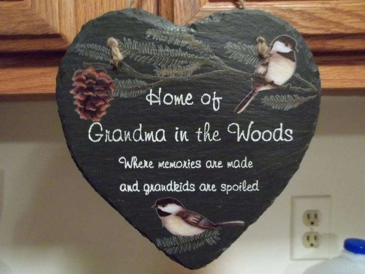 Easy Slate plaque I made as a gift for mother-in-law