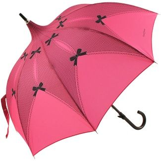 Riviera Fuchsia Lace Print Pagoda Umbrella by Chantal Thomass
