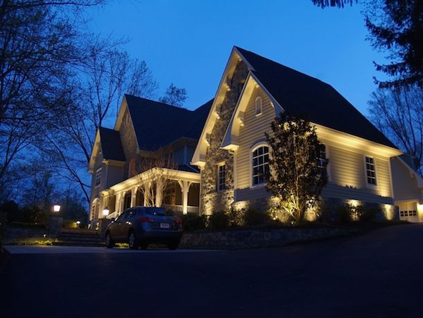 Our beautiful landscape lighting seen throughout northern virginia and washington dc ask us about our free night time demo and design consultation