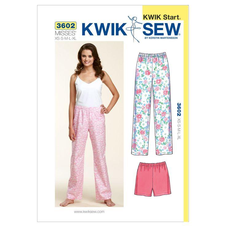 Mccall Pattern K3602 Xs-S-M-L-X-Kwik Sew Patternnull