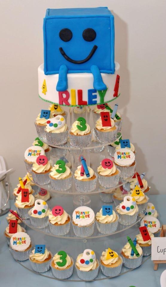 Mr Maker inspired cake