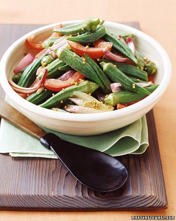 Sauteed Okra and Tomatoes | Recipe | Okra, Tomatoes and Martha Stewart