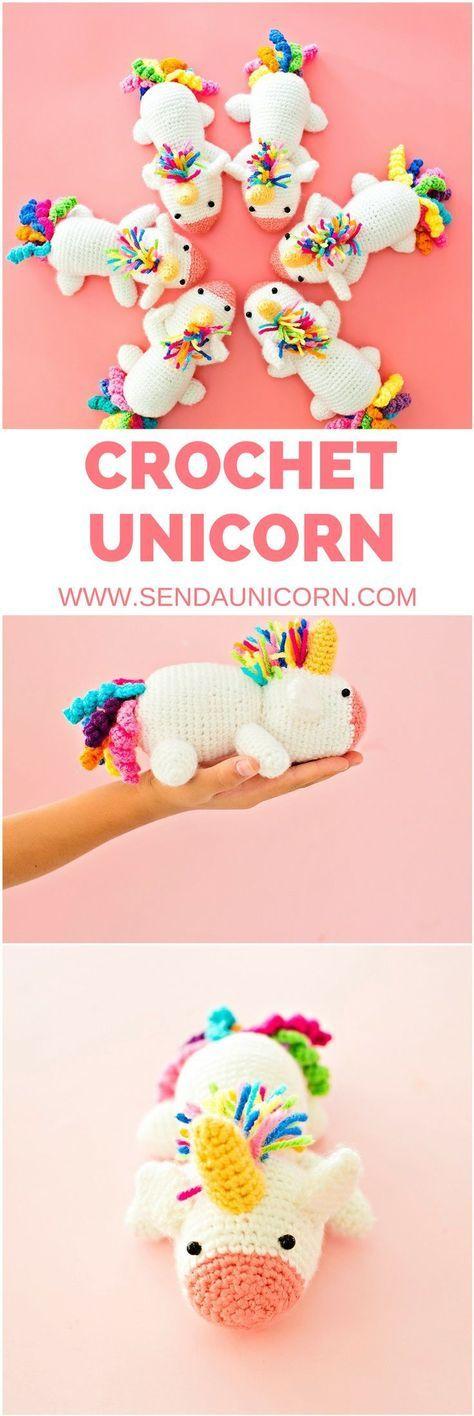 Unicorn Crochet Doll Toy. Send a Unicorn. #unicornparty #unicornio #unicorndoll #crochetunicorn #unicorns #unicorncrafts