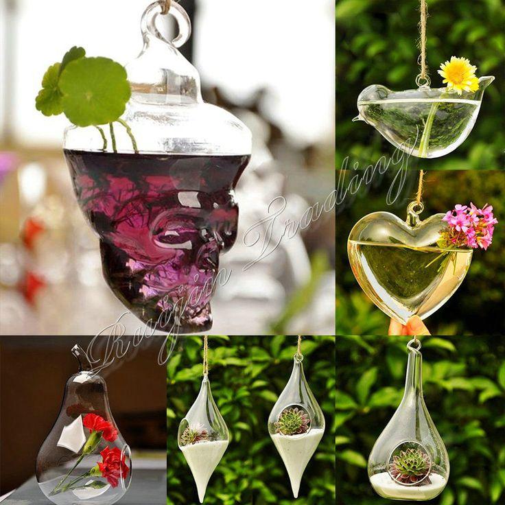 Crystal Clear Flower Hanging Vase Planter Terrarium Container Pot Home Decor