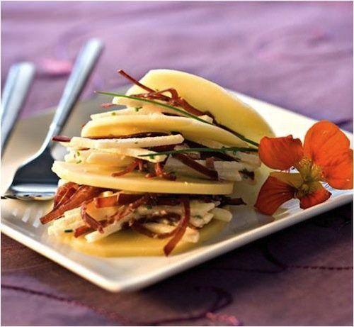 Receta de Milhojas de queso Appenzeller y manzana | Recetas de Cocina