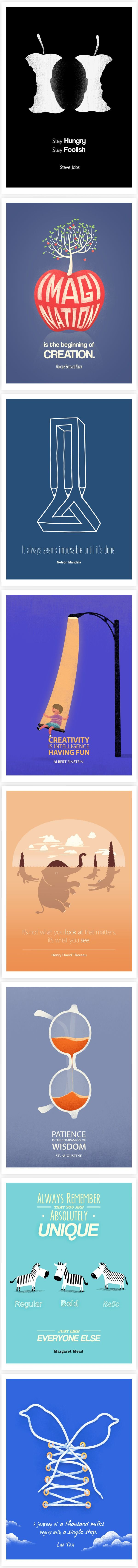 Famous Quotes are Paired with Clever Illustrations