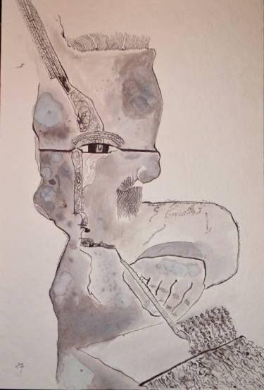 "Saatchi Art Artist Alexandru Ilea; Painting, ""Writer"" #art"