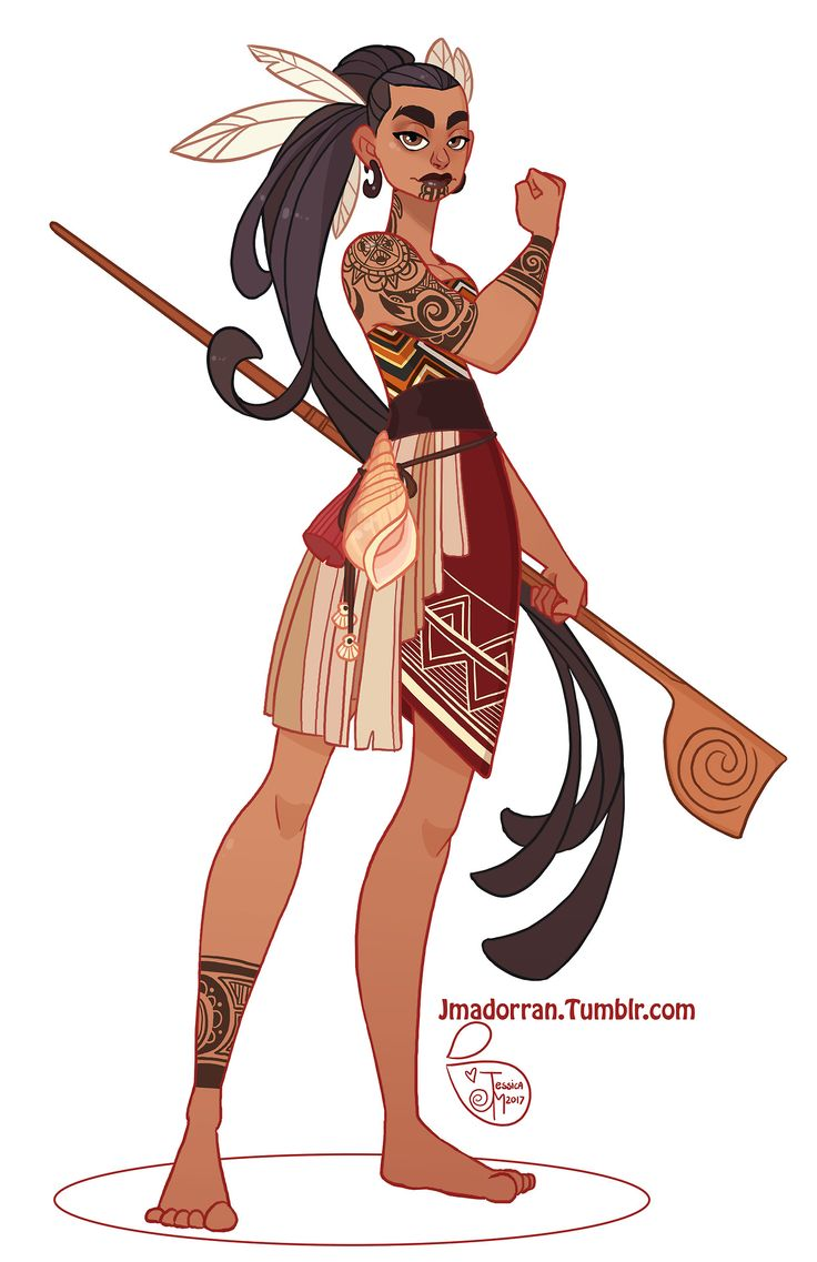 """jmadorran: """"My submission for this month's Character Design Challenge. The theme was Maori Warrior. :) """""""