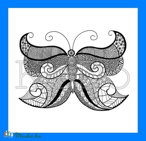Meska - Színezhető ZEN pillangó kedo kézművestől