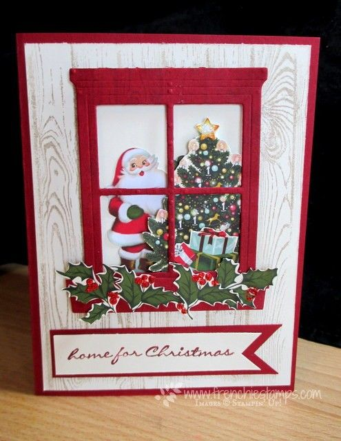 by France: Jingle All the Way, Hardwood, Home for Christmas dsp, Hearth & Home Thinlits - all from Stampin' Up!
