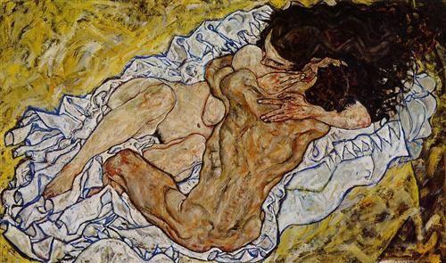 L'abbraccio, 1917, olio su tela, Österreichische Galerie Belvedere, Vienna, Austria