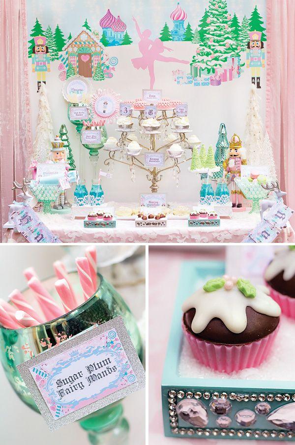 Sugar plum birthday cake | Magical Sugar Plum Fairy Nutcracker Birthday Party // Hostess with the ...