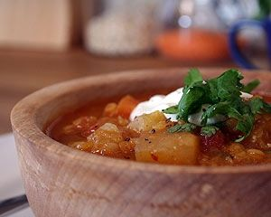 Spiced vegetable and lentil soup - Bill Granger