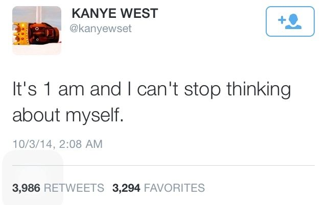 This is sad because it's very possible this is a real Kanye West tweet