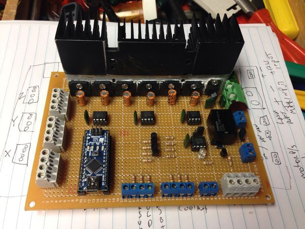 3 Axis Arduino Based CNC Controller