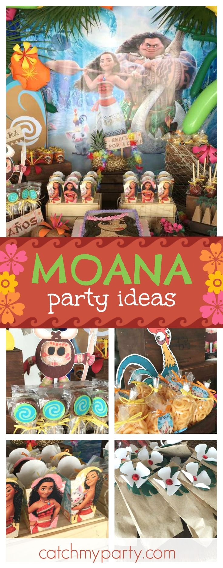 Check out this fantastic Moana Bash! The birthday cake is so awesome!! See more party ideas and share yours at CatchMyParty.com