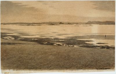 Theodor Kittelsen, «Aftenstemning ved havet»