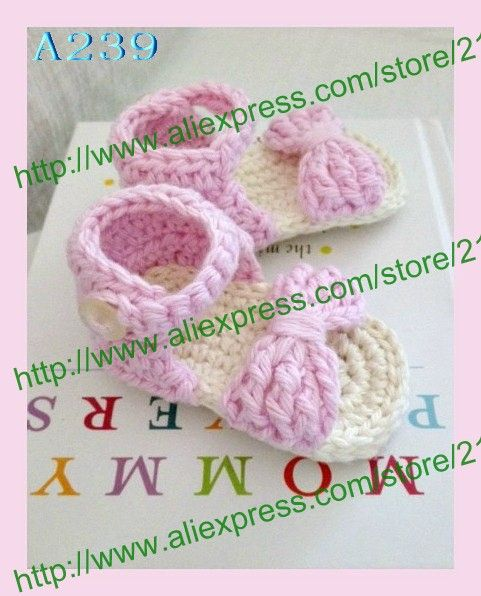>> Click to Buy << Crochet Baby Sandals Bow Front, handmade crocheted pink baby shoes,for Spring and Summe Free Shipping #Affiliate