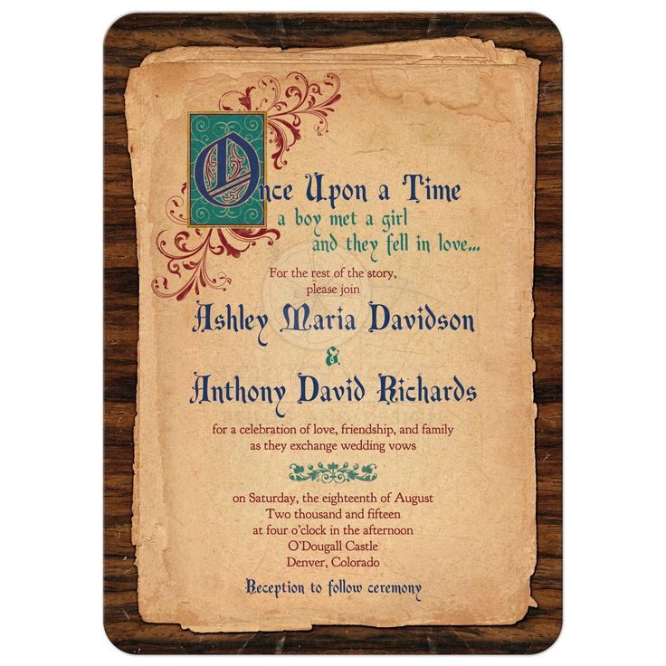 fairytale bridal shower invitation wording%0A Fairy Tale Wedding Invitation Medieval Once Upon A Time