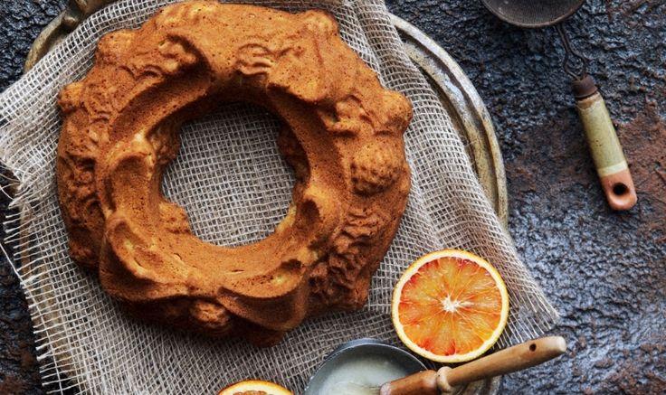 Рецепт - Ванильный кекс с клементинами по рецепту Марты Стюарт