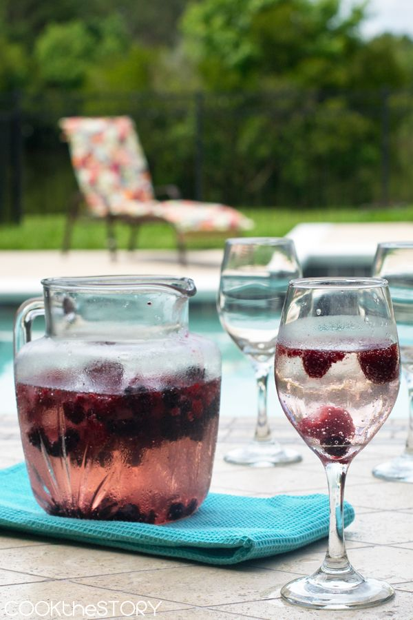 Homemade Berry Wine Cooler
