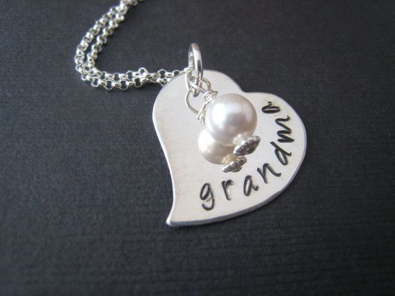 I heart pearls Hand Stamped Personalized by stampedjewellery, $42.00