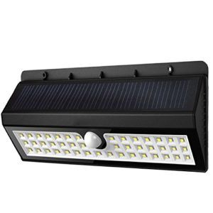 Sadun Multimode Solarleuchten Garten, 44 LED Solarlampen mit Bewegungsmelder Super Helle Solar Betriebener Wasserdicht Drahtlos Für Patio, Terrasse, Hof, Garten Außenwand