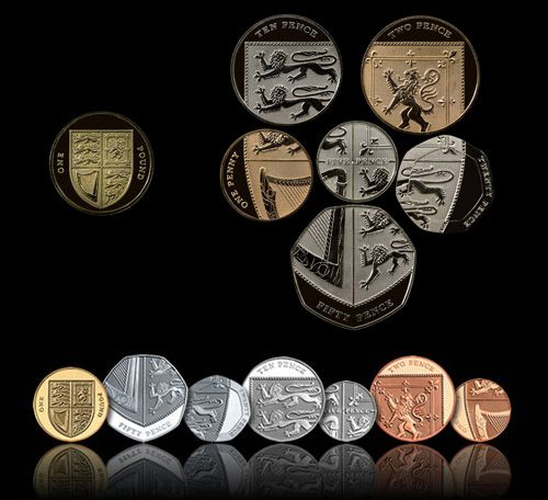 The UK definitive coins