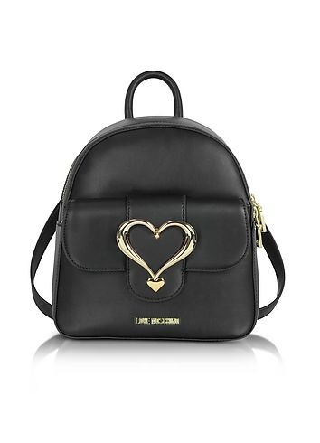 Love+Moschino+Eco+Leather+Backpack+w/Heart+Buckle