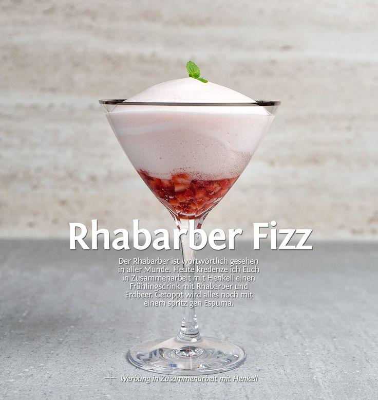 Rhabarber Fizz mit #henkell #sekt und viel #sparkling