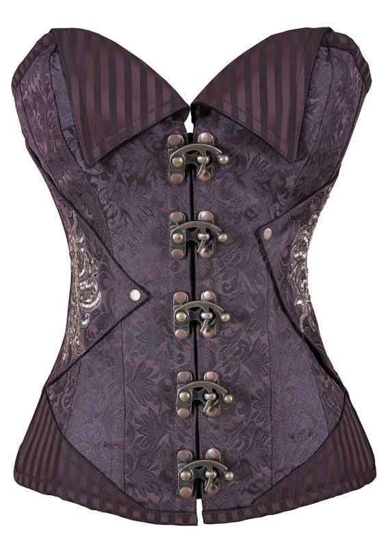 Sweetheart Overbust pattern perfect for medium & short torso female A very Sophisticated designed Polyester Brocade in Coffee Color to feel of