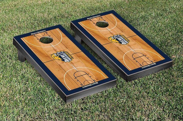 Cornhole Game Set - Averett University Cougars Basketball Court Version - 33973