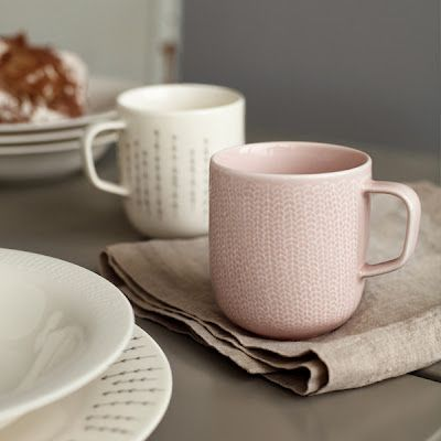 Iittala: Sarjaton, color: vanha roosa. Finnish design, dusky pink, antique pink, blush, mugs,