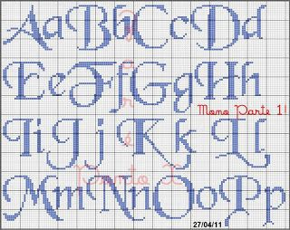 alphabet for needlepoint or cross stitch