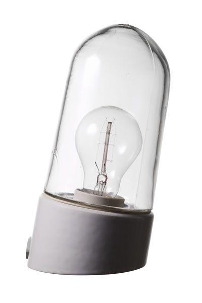 Porslinslampa utomhus, sned