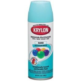 Tiffany Blue spray paint for dresser and picture frames :)  Krylon Blue Ocean Breeze  LOVE this color!