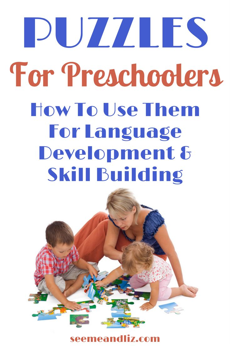 Preschool puzzle activities can be fun and seem like play. But so much learning can happen. Click to find out what skills your preschooler can learn! #puzzles #kidslearning #homeschooling