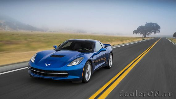 Chevrolet Corvette Stingray 2016  / Шевроле Корвет Стингрей 2016 – вид спереди сзади