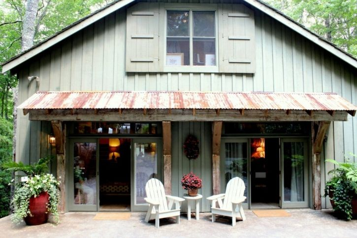 Awning with oversized brackets  The Cashiers Designer Showhouse – part 2 » Talk of the House