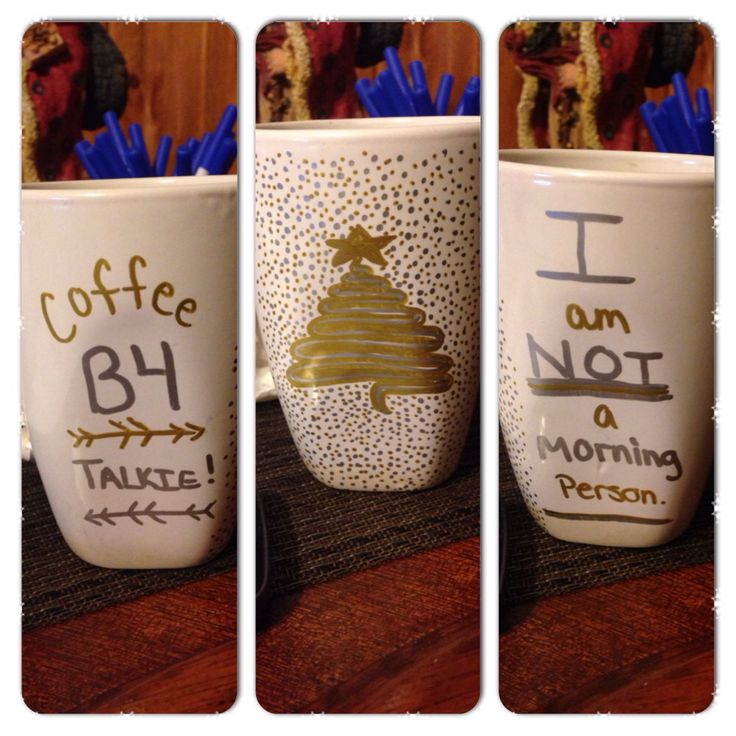 Coffee mug :)  Draw with a sharpie on a dollar store mug, bake for 30 mins at 350 :)