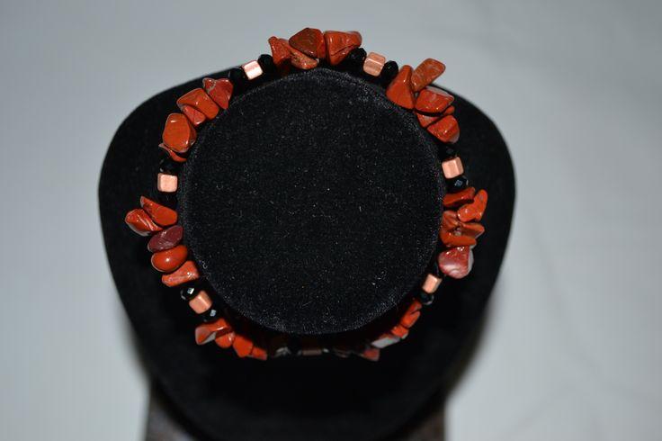 bracelet en jaspe rouge, Opale Isis, Christine Monsion