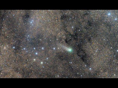 Комета 2014Q1 PanSTARRS самая яркая на небе 2015