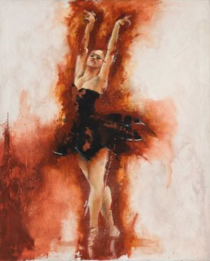 "Saatchi Art Artist Carlos Sanchez; Painting, ""Black Swan"" #art"