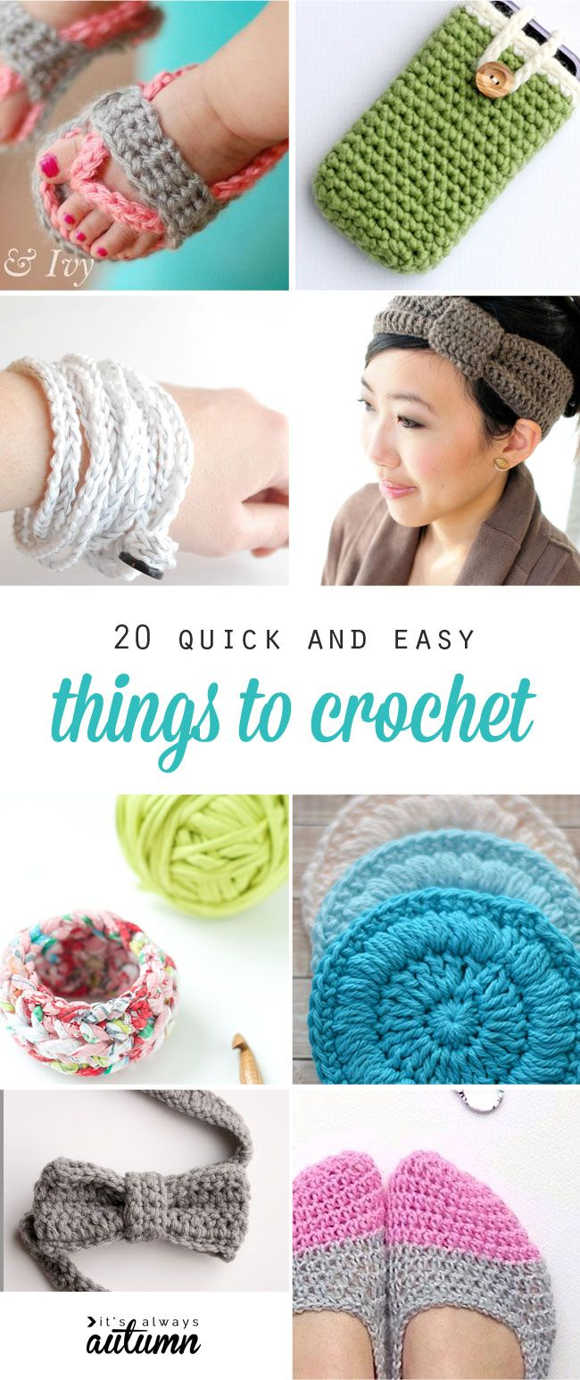 great ideas for small, quick crochet projects, perfect for beginners! Free easy crochet patterns