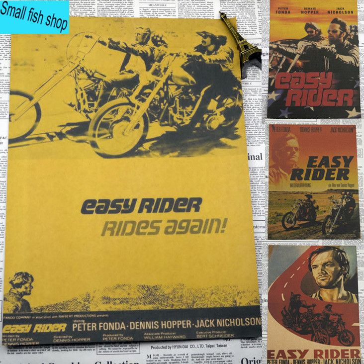 Easy Rider Peter Fonda Movie Poster Home Furnishing decoration Kraft Movie Poster Drawing core Wall stickers