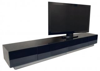 Alphason Element Black TV Cabinet - EMTMOD2500-BLK