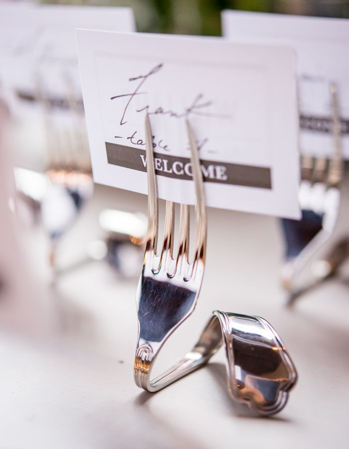 Styled Shoot: Chic Industrial Wedding Reception Ideas from Weddingstar - love the wedding escort card holder