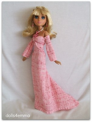 """$16.99 FAIRY TALE - Medieval / Princess style gown with butterfly jewelry. Made for the 14"""" Moxie Teenz dolls. Available on eBay, by dolls4emma :"""