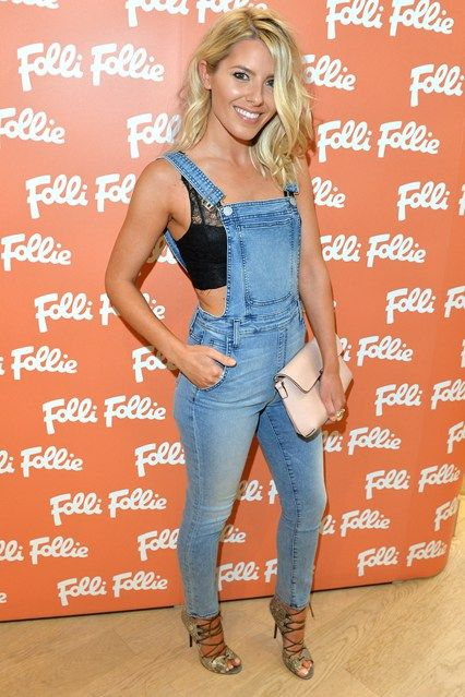 Mollie King in Dungarees