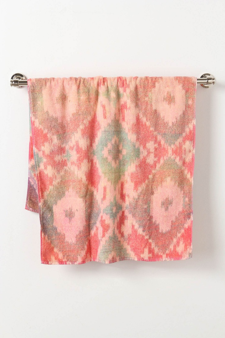 ikat towels from anthro